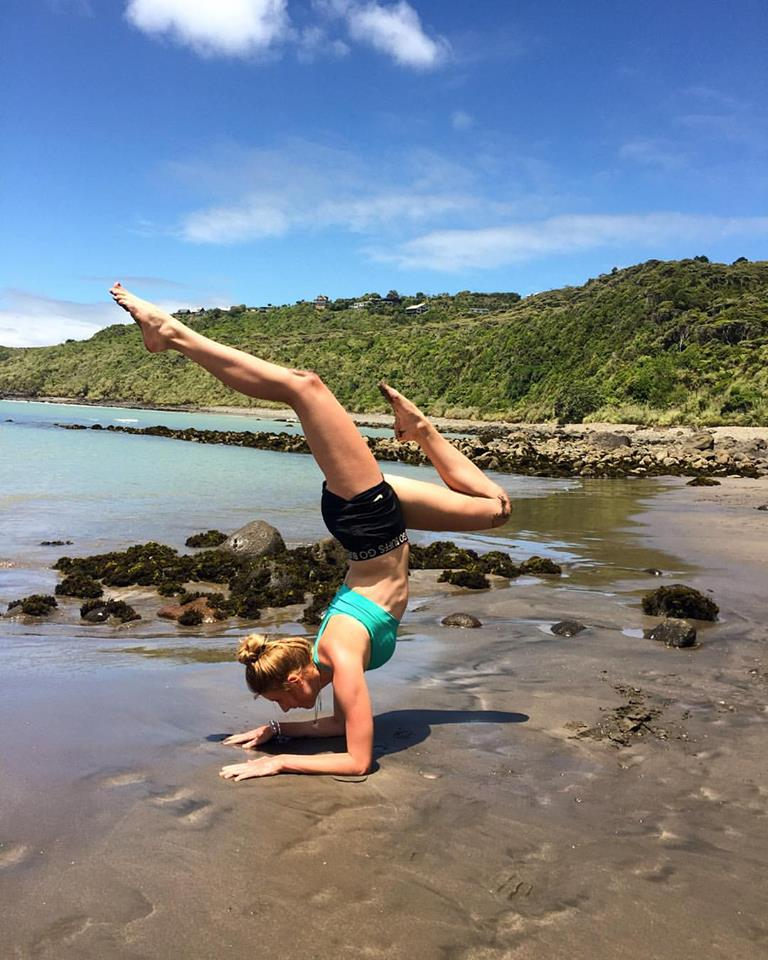 Yoga on the beach over Christmas