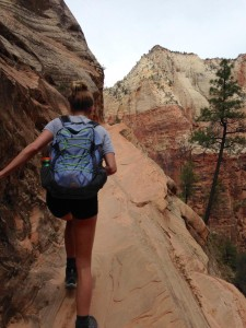 Mindful exercise - Hiking in Zion
