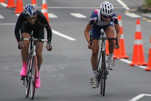 Final Sprint to win the U19 NZ Criterium Championships