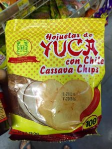 Natural spicy yuca chips